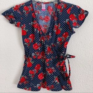 New Women's Pin Up Vintage Floral Top